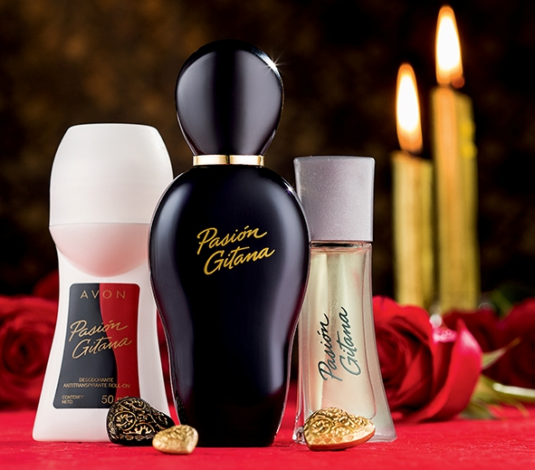 Pasión Gitana, Eau Toilette Spray y Desodorante Antitranspirante Roll-On de Avon